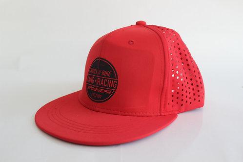KR CIRKLE VENTED RED/BK HAT