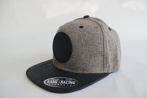 KR RACEWEAR BK LEATHER/LIGHT GREY HAT
