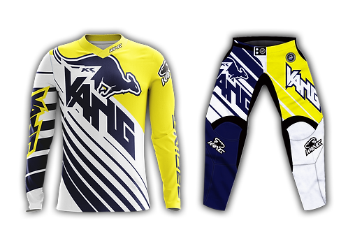 YOUTH KANG D-AGONAL BLUE/WHITE/YELLOW KIT