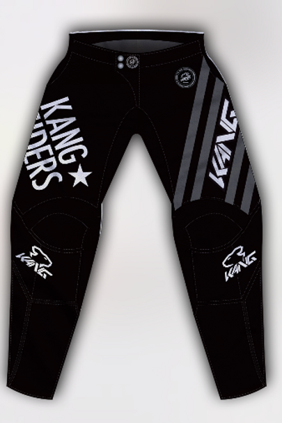 YOUTH KANG RIDERS BLACK/GREY PANT