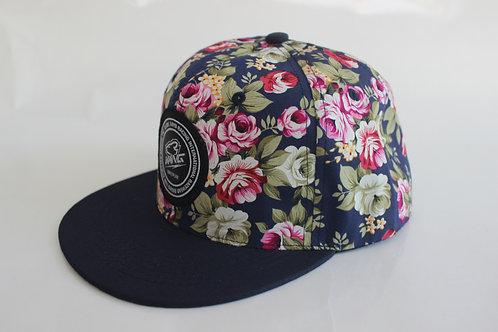 KR RACEWEAR FLOWERS/NAVY HAT