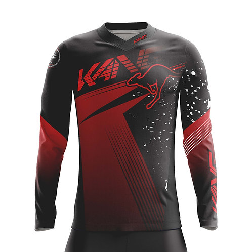 JERSEY SPOTTED BLACK/RED