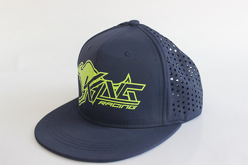 KR VENTED NAVY BLUE/FLO YELLOW HAT