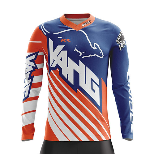 YOUTH JERSEY KANG D-AGONAL BLUE/ORANGE