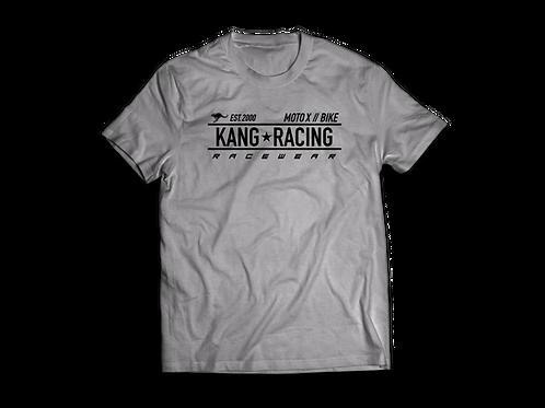 KR RACE GREY HEATHER/BLACK TEE