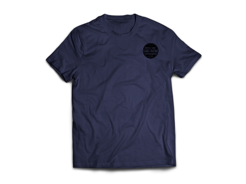 KR CIRKLE HEATHER NAVY/BLACK TEE
