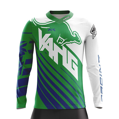 YOUTH JERSEY KANG D-AGONAL BLUE/GREEN