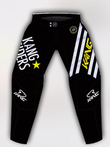 YOUTH KANG RIDERS BLACK/YELLOW PANT