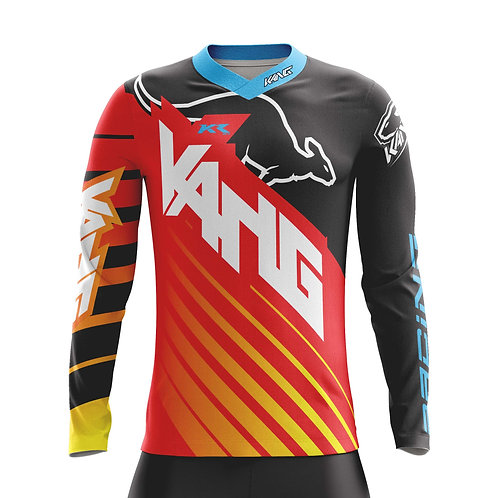 YOUTH JERSEY KANG D-AGONAL RED/BLACK