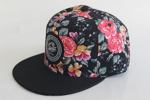 KR RACEWEAR FLOWERS/BLACK HAT
