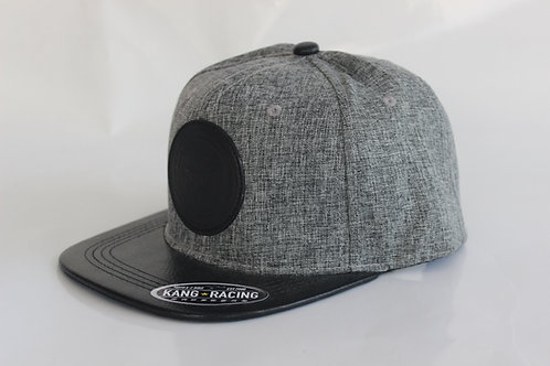 KR RACEWEAR BK LEATHER/GREY HAT