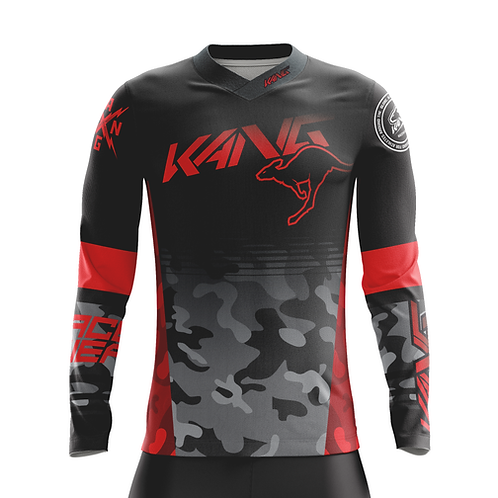 JERSEY KANGMO BLACK/RED