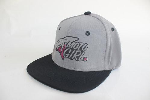KR MOTO GIRL GREY/BK HAT