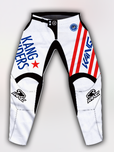 YOUTH KANG RIDERS WHITE/BLUE/RED PANT