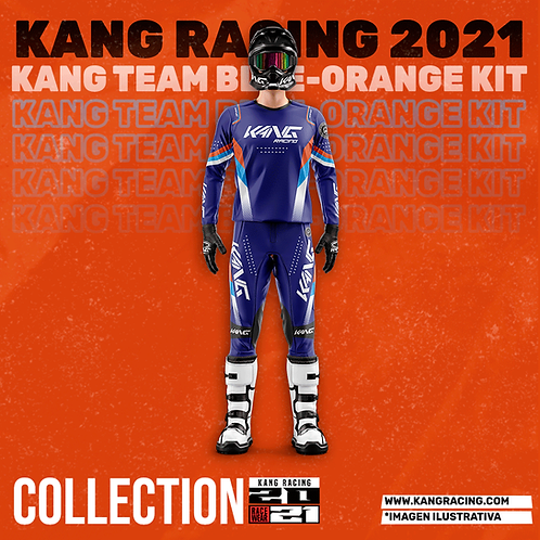 KANG TEAM BLUE-ORANGE KIT
