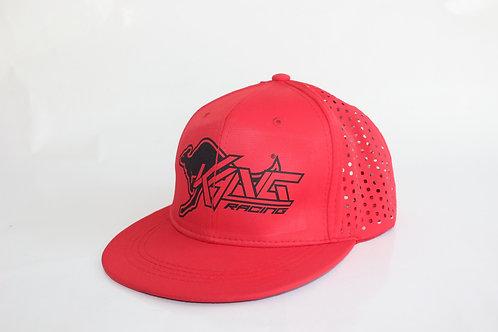 KR VENTED RED/BK HAT