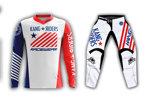 KANG RIDERS FLAG WHITE/BLUE/RED KIT