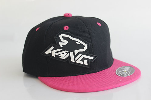 WOMAN KR KANG HEAD BK/PINK HAT