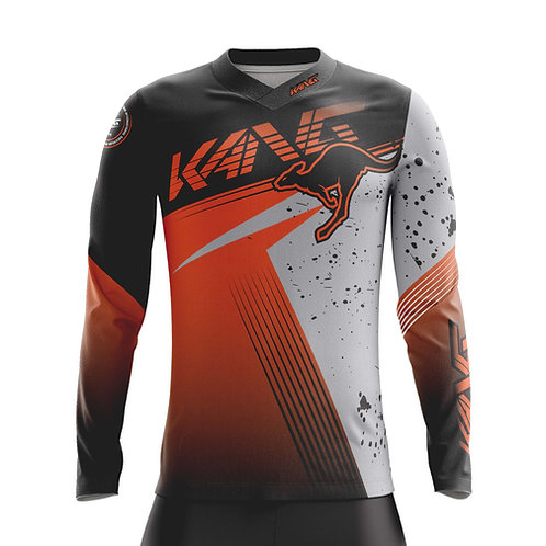JERSEY SPOTTED BLACK/GREY/ORANGE