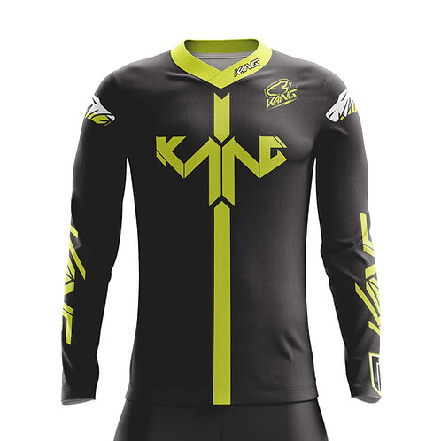 JERSEY D-VISION BLACK/YELLOW