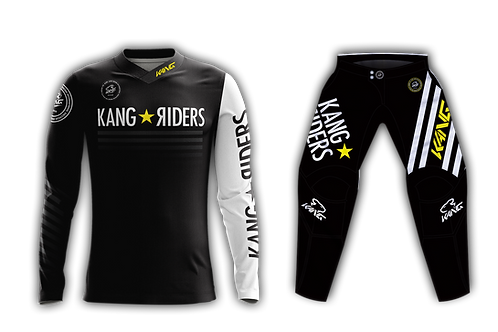 YOUTH KANG RIDERS BLACK/YELLOW KIT