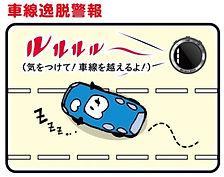 車線逸脱警報