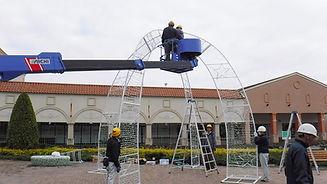 那須ガーデンアウトレット様・冬季イルミネーションイベント設置作業(イベント・養生