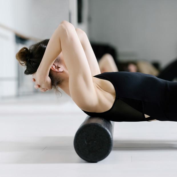 Foam roller mat pilates