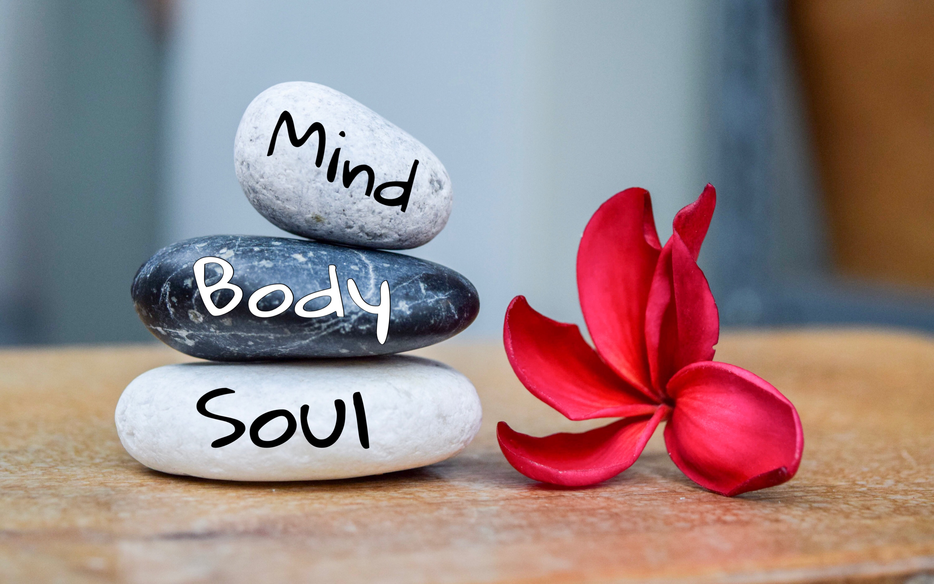 Holistic health concept of zen stones wi