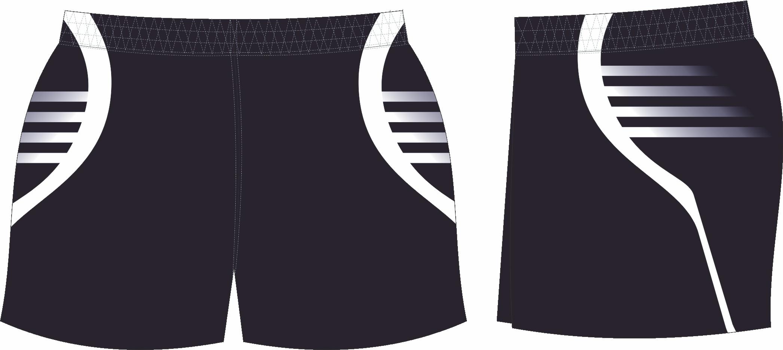 S201XSHT Black White club Shorts.png