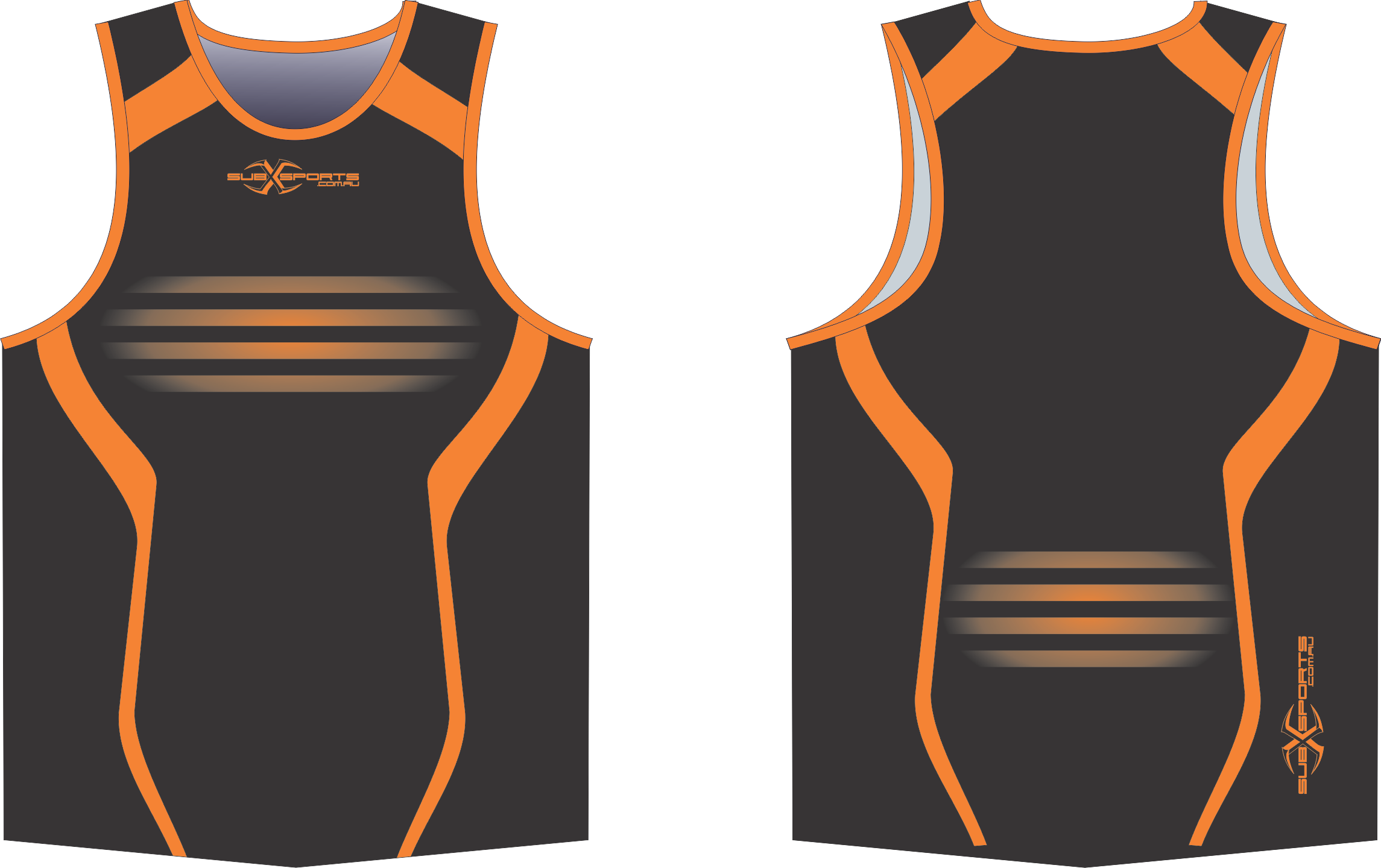 S201XS black Orange union singlet.png