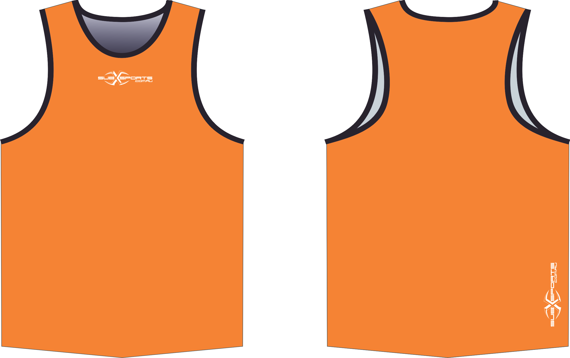 S206XS Singlet Orange Black.png