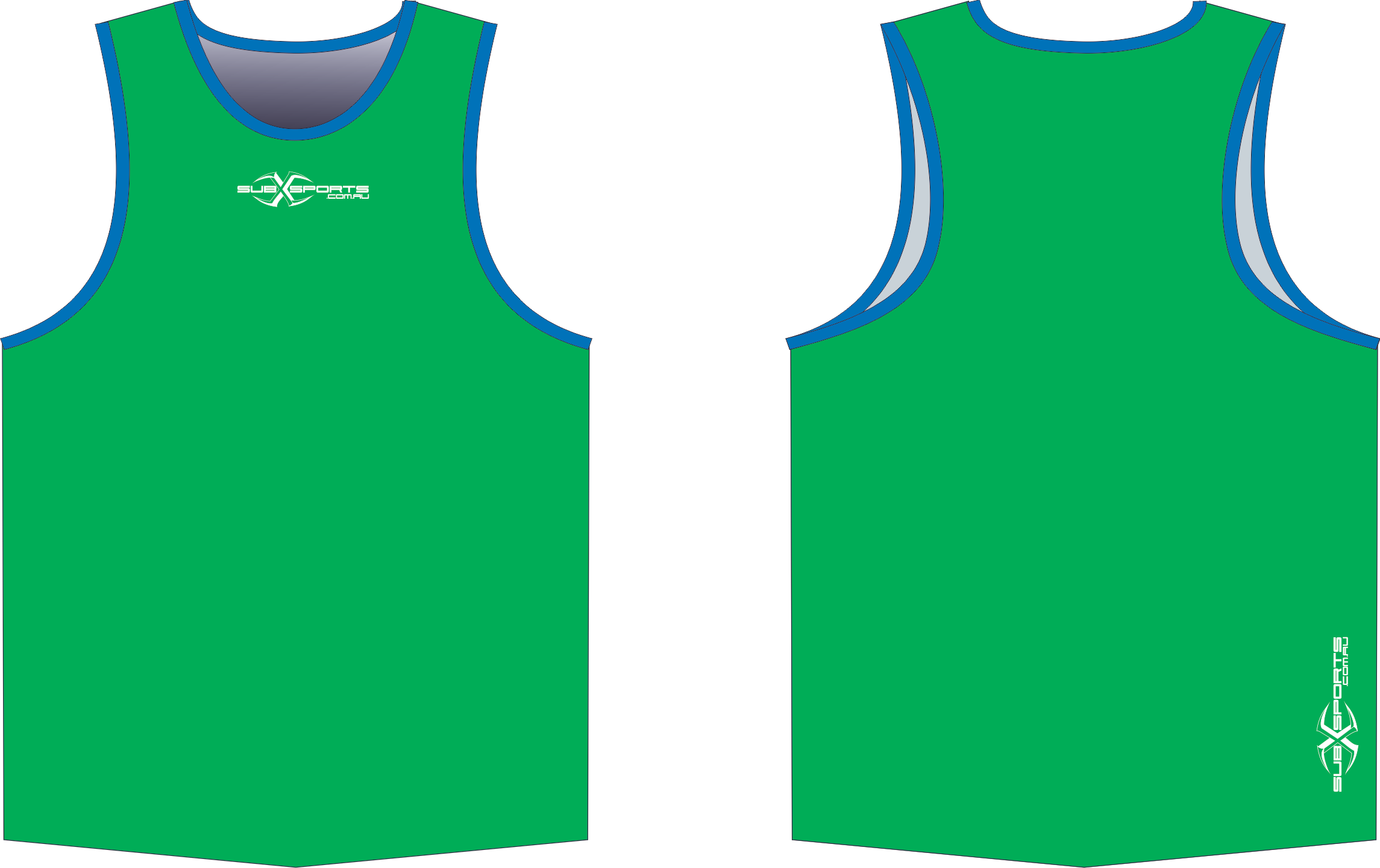 S206XS Singlet Green Blue.png