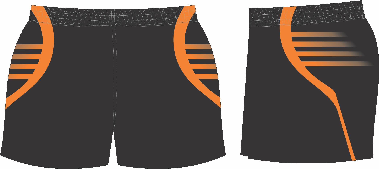 S201XSHT Black Orange club Shorts.png