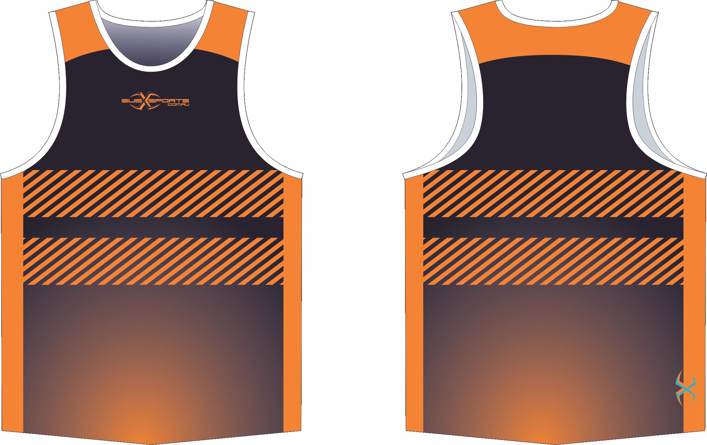 X305XS Singlet Black Orange.png