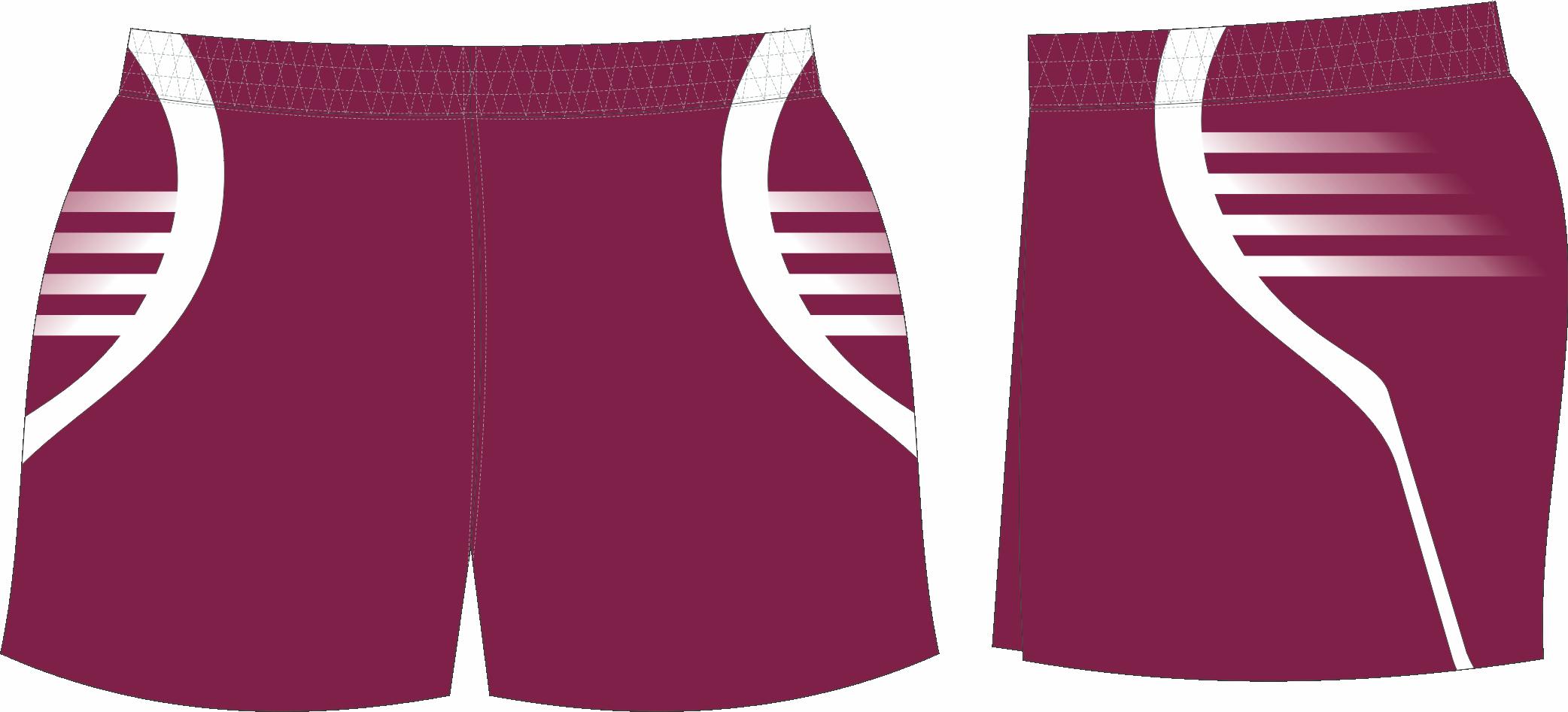 S201XSHT Maroon White club Shorts.png