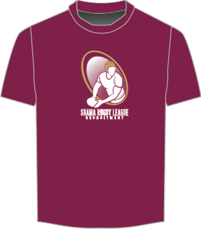 Srama Rugby League Recruitment Maroon T-Shirt