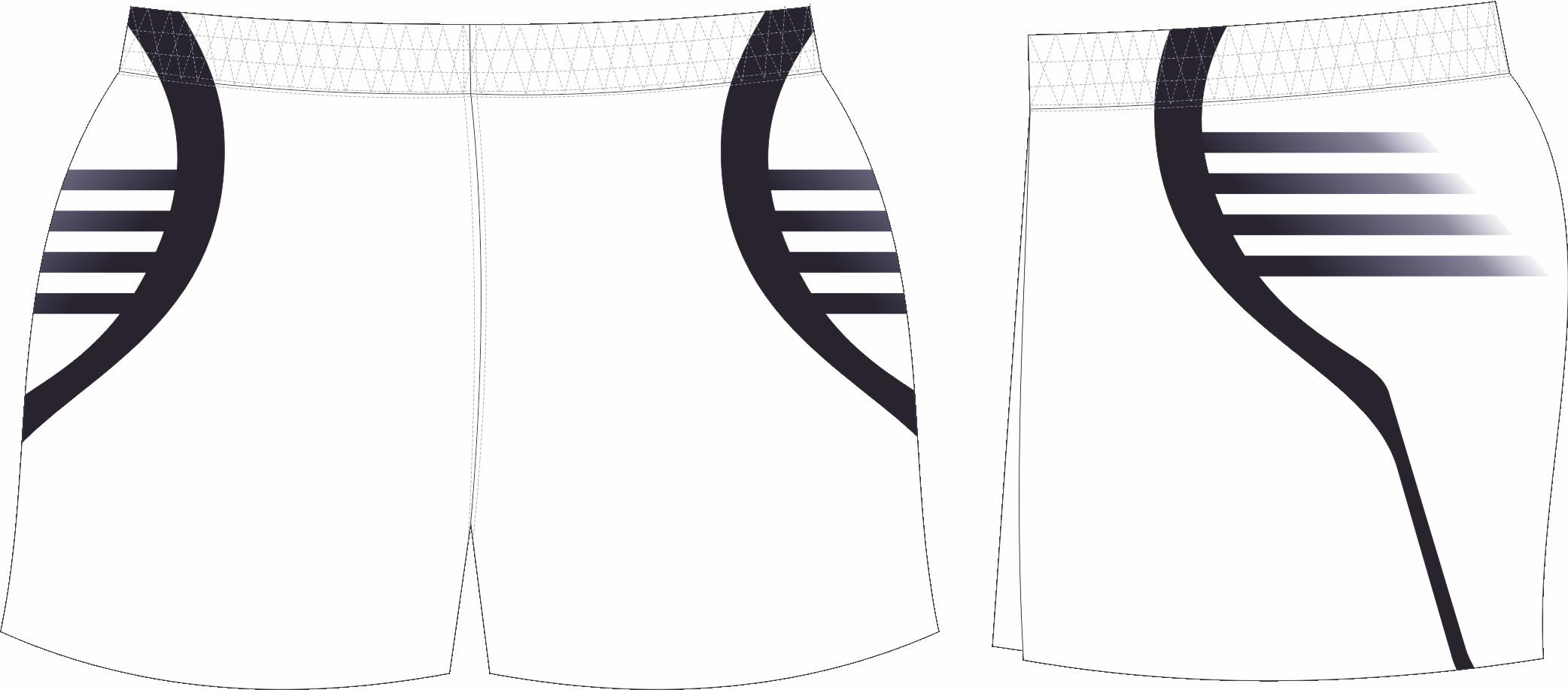 S201XSHT White Black club Shorts.png