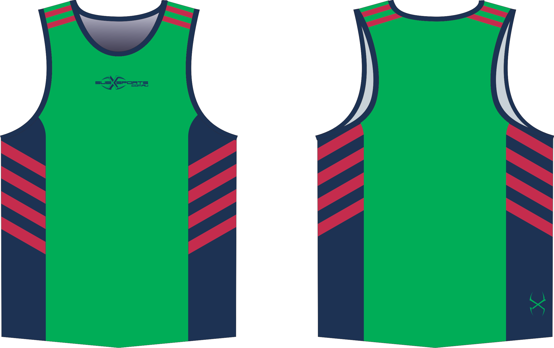 S204XS Singlet Green Navy Red.png