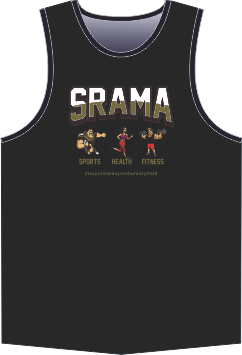 Srama Sport Health Fitness Black Singlet