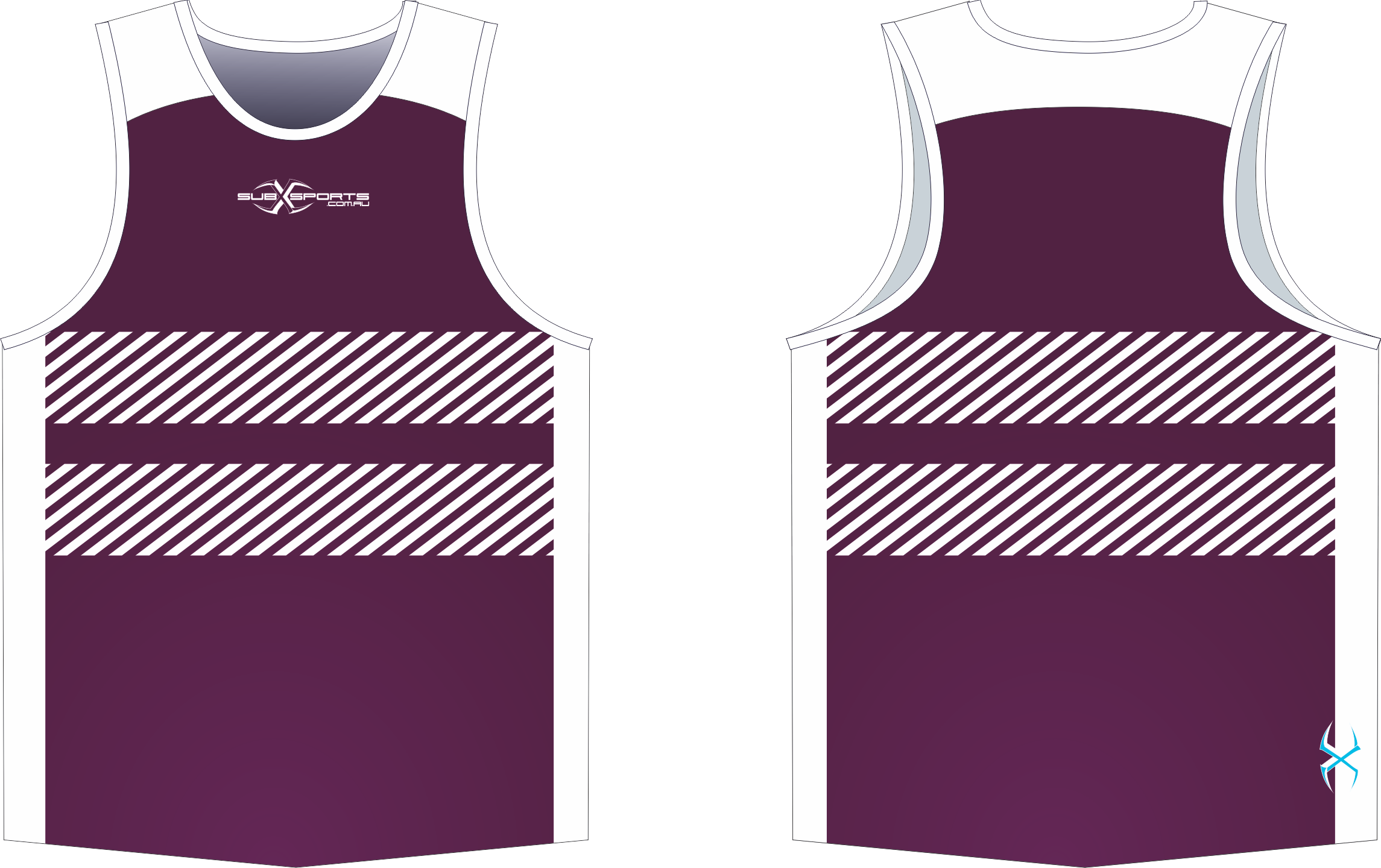 X305XS Singlet Maroon White.png