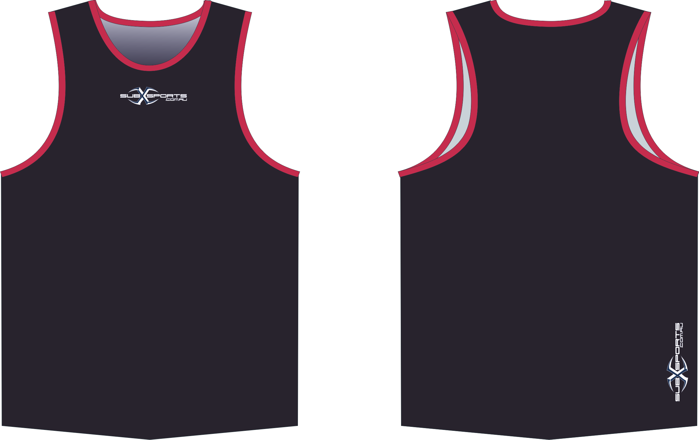 S206XS Singlet Black Red.png