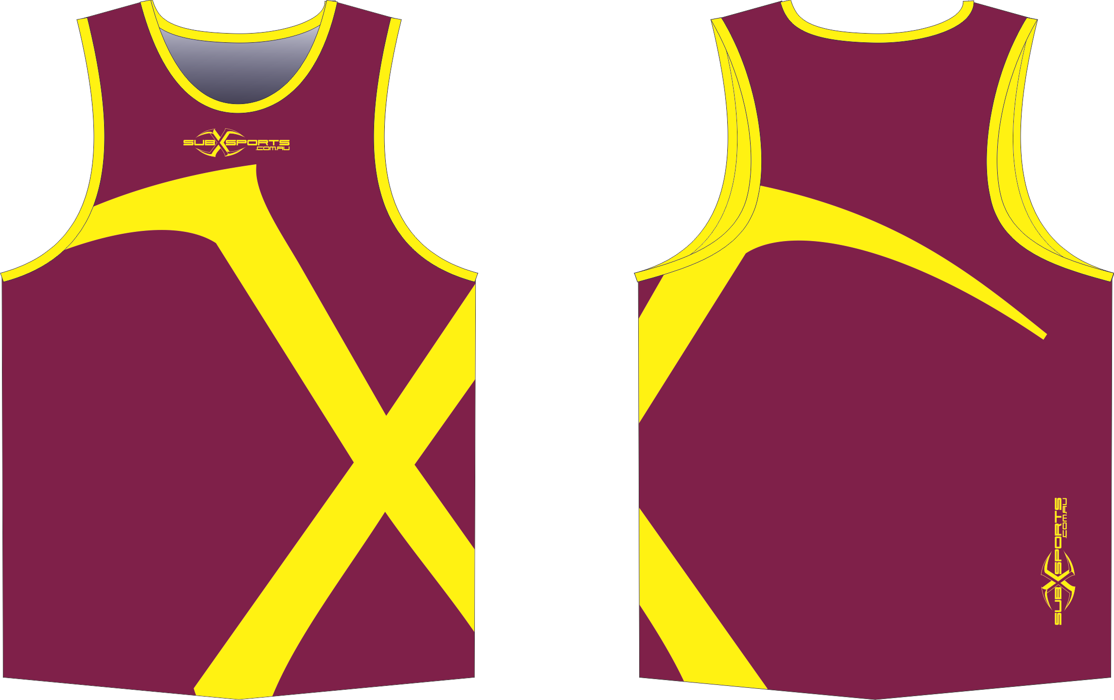 X301XS maroon gold Singlet.png