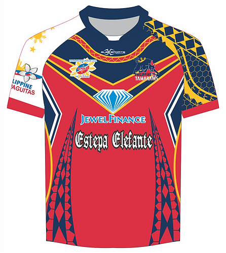 Philippine Tamaraws Rugby League Red Training Shirts