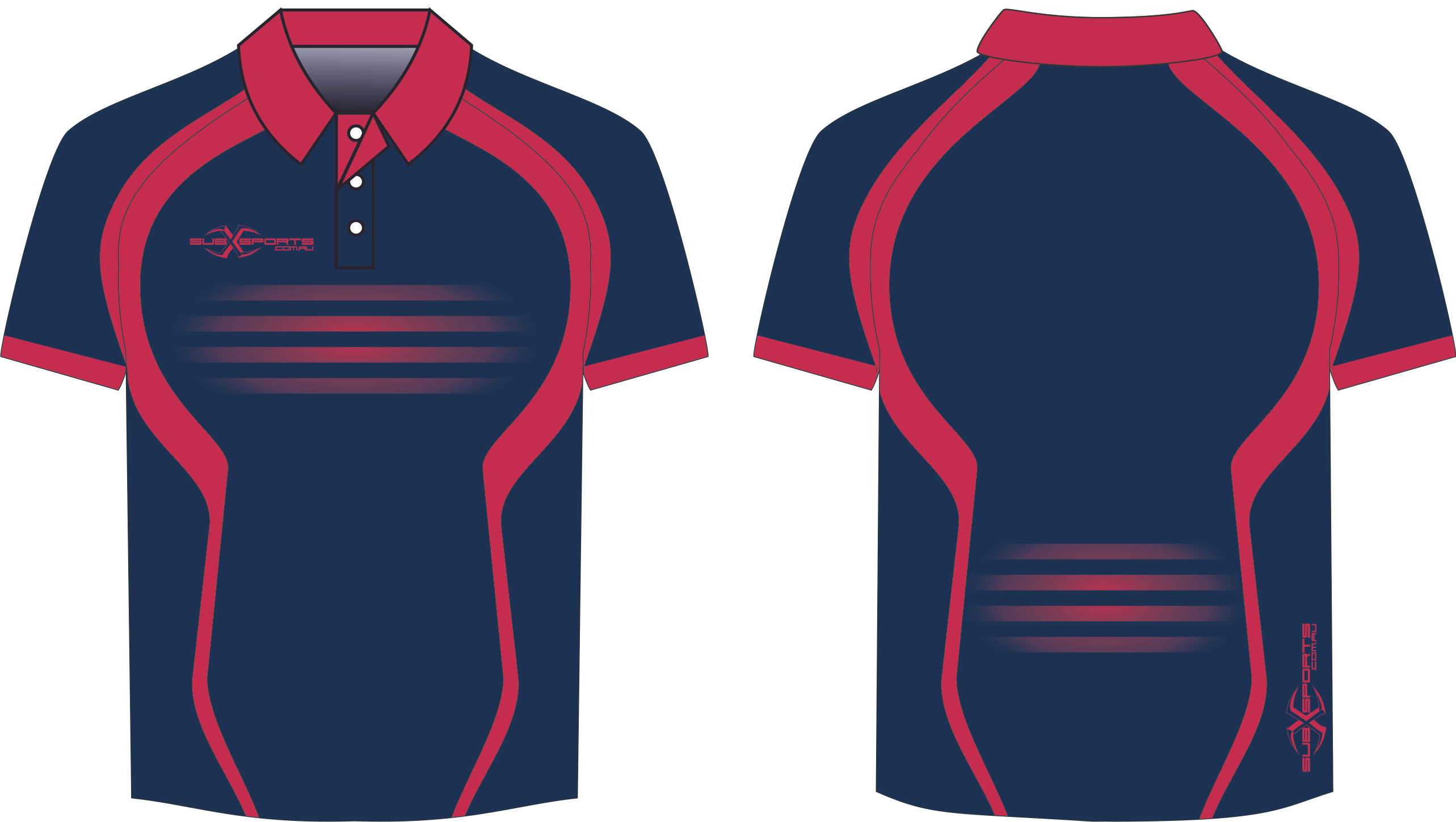 S201XP Navy Red sublimated polo.png