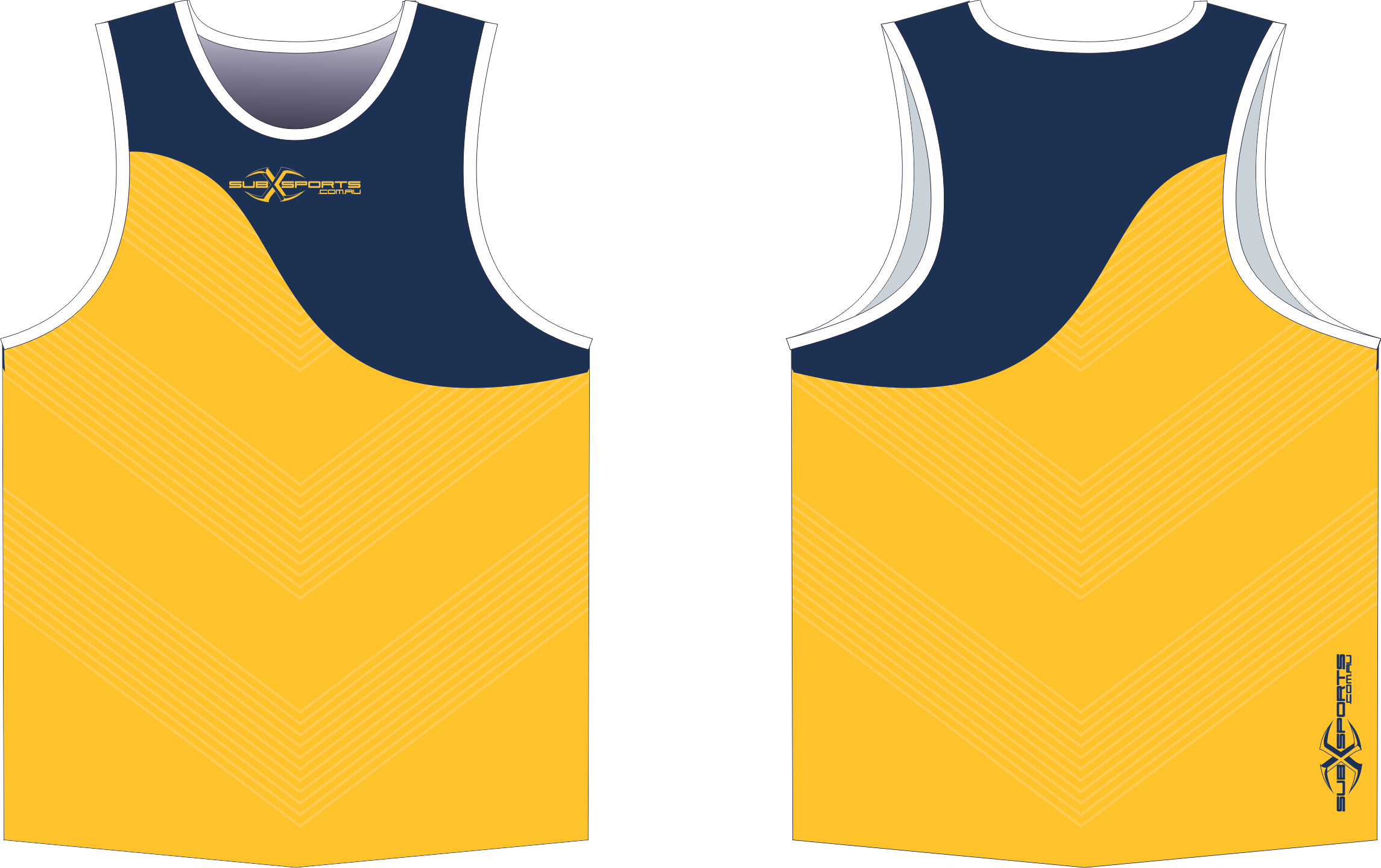 X304XS Singlet Gold Navy.png