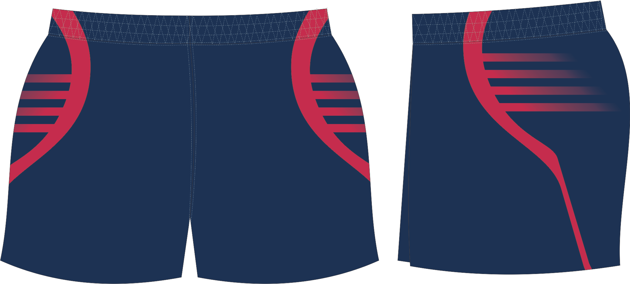 S201XSHT Navy Red club Shorts.png