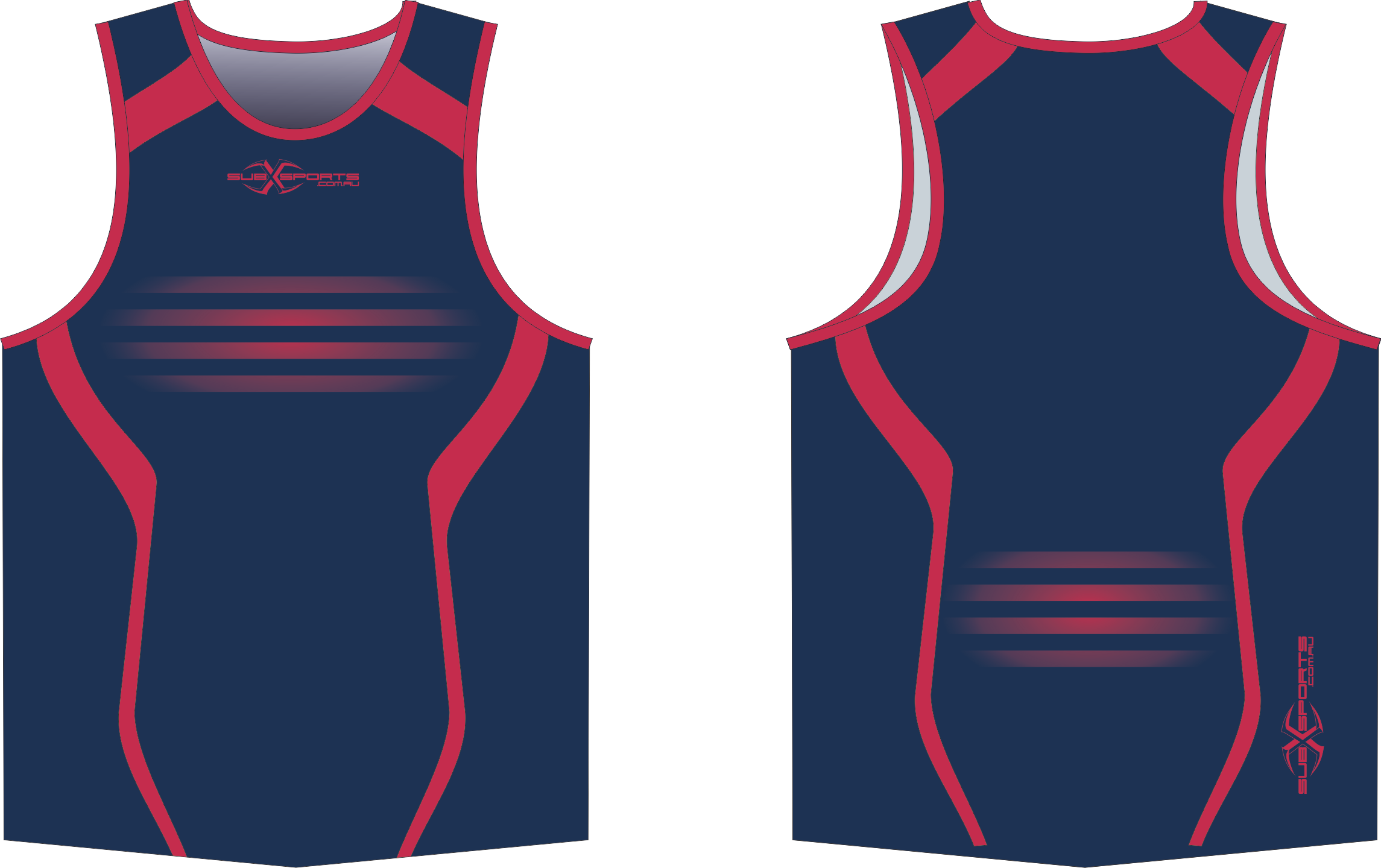 S201XS Navy Red club Singlet.png