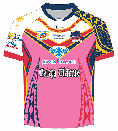 Philippines Rugby League Tamaraws Pink Playing Jersey
