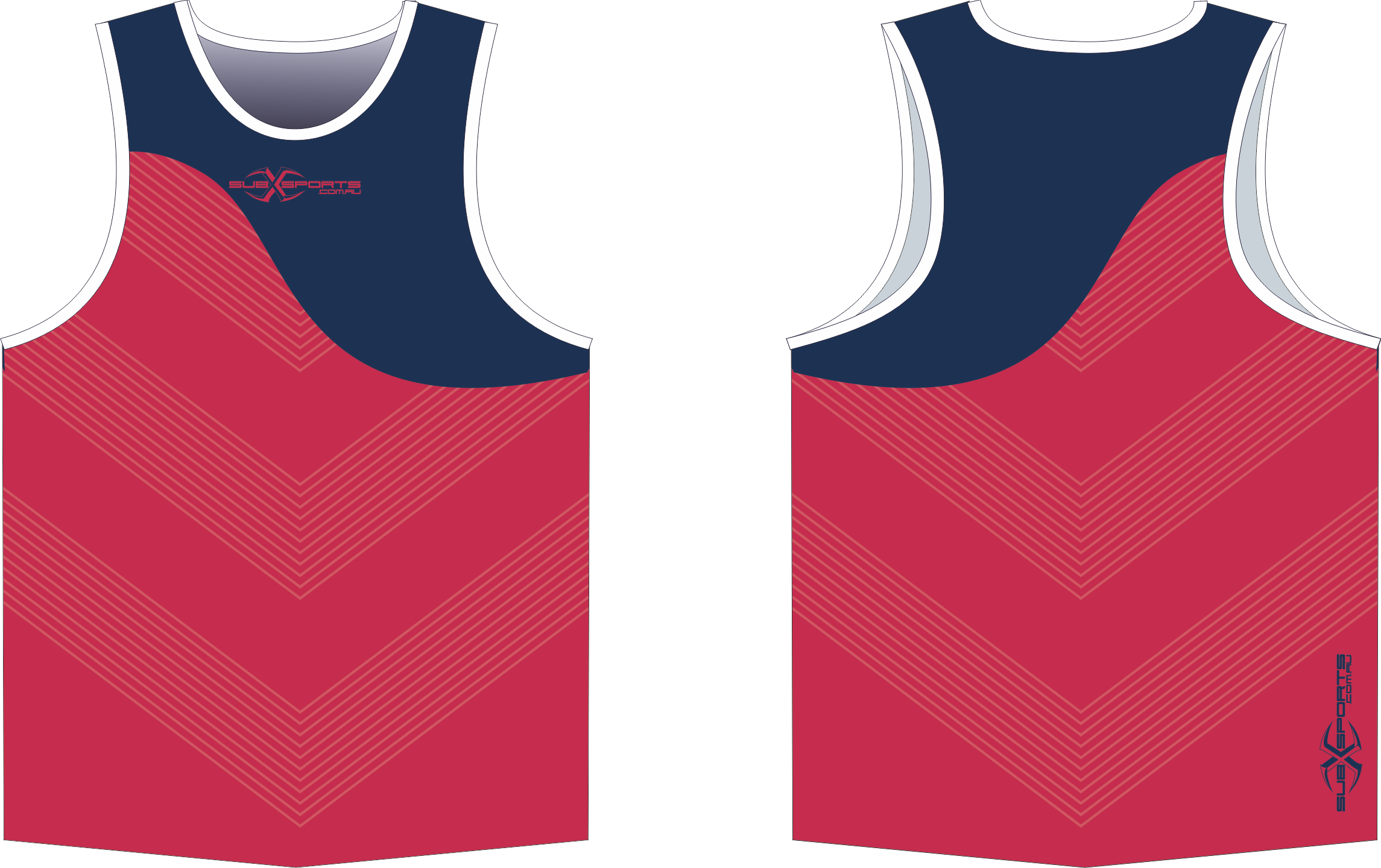 X304XS Singlet Red Navy.png